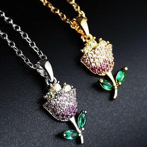 Handmade Cubic Zirconia Clavicular Necklace